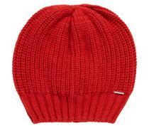 Grobstrick-Mütze aus Material-Mix mit Kaschmir