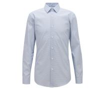 Bedrucktes Slim-Fit Hemd aus italienischer Baumwoll-Popeline