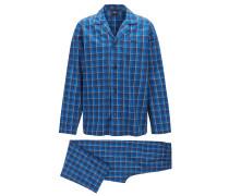 Karierter Pyjama aus Baumwoll-Twill