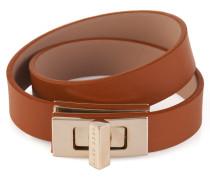 Unifarbenes BOSS Bespoke Armband aus Leder