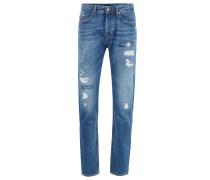 Tapered-Fit Jeans aus italienischem Denim