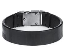 Armband aus Nappaleder mit Schließe und Logo-Print