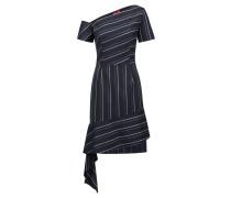 Nadelstreifen-Kleid mit asymmetrischen Bahnen