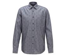 Regular-Fit Hemd aus Fil-coupé-Baumwolle