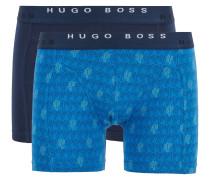 Boxershorts aus Stretch-Baumwolle im Zweier-Pack