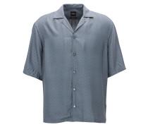 Bedrucktes Relaxed-Fit Hemd aus italienischer Seide