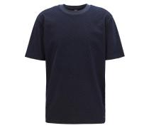T-Shirt aus Baumwolle mit Flock-Print