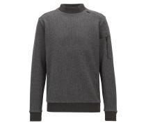 Pullover aus zweiseitigem Fleece mit Stehkragen