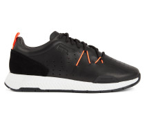 Sneakers aus perforiertem Leder im Laufschuh-Stil