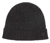 Mouliné-Mütze aus gerippter Baumwolle mit Wolle