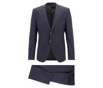 Karierter Extra Slim-Fit Anzug aus reiner Schurwolle