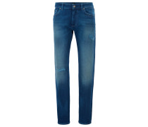 Regular-Fit Jeans aus meliertem Stretch-Denim