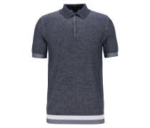 Slim-Fit Kurzarm-Pullover im Polo-Stil aus Mouliné-Baumwolle