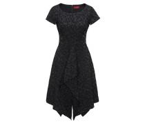 Drapiertes Kleid mit geblümtem Jacquard-Muster