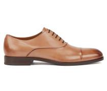 In Italien gefertigte Oxford-Schuhe aus pflanzlich gegerbtem Leder