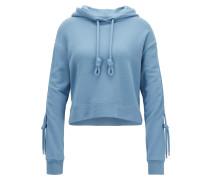 Kapuzen-Sweatshirt aus Terry in Cropped-Länge