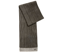 Strickschal aus zweifarbiger Schurwolle