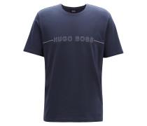 Pyjama-Shirt aus Stretch-Jersey mit Logo-Print
