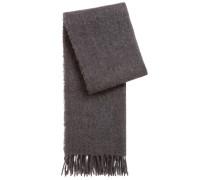 Schal aus weich angerautem Material-Mix mit Wolle