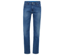 Regular-Fit Jeans aus italienischem Stretch-Denim