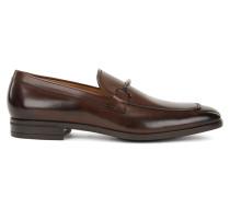 Italienische Loafer aus poliertem Leder