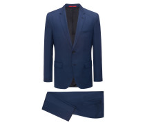 Regular-Fit Anzug aus strukturierter Schurwolle