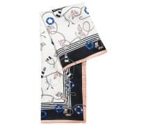 Tuch aus reiner Seide mit maritimem Print