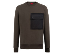 Fleece-Sweatshirt aus Baumwoll-Mix