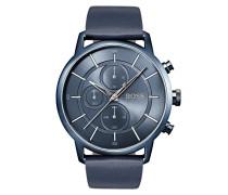 Armbanduhr im Bauhaus-Stil aus Edelstahl