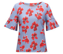 Regular-Fit Top mit verwischtem Blumenprint