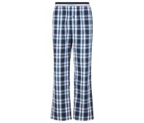 Karierte Pyjama-Hose aus Baumwoll-Popeline