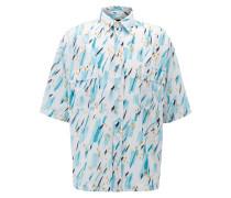Relaxed-Fit Hemd mit handgezeichnetem Print