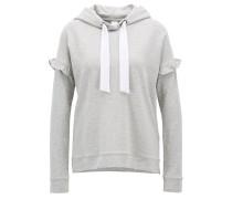 Kapuzen-Sweatshirt aus French Terry mit Rüschen