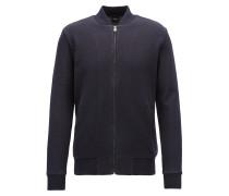 Sweatjacke im Blouson-Stil aus zweiseitigem Baumwoll-Jersey