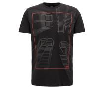 T-Shirt mit reflektierender Digitaluhr-Grafik