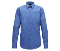 Slim-Fit Hemd aus Fil-à-fil-Baumwolle