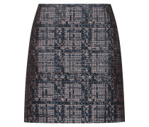 Minirock aus Tweed mit Metallic-Akzenten