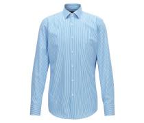 Slim-Fit Hemd aus Baumwoll-Twill mit Längsstreifen
