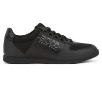 Lowtop Sneakers aus Neopren und Material-Mix
