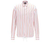 Relaxed-Fit Overshirt aus gestreifter Baumwolle