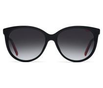 Sonnenbrille aus dunkelrotem Acetat