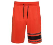 Shorts aus Interlock-Baumwolle mit Logo-Tape