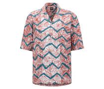 Bedrucktes Regular-Fit Hemd aus Baumwolle