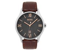 Uhr aus poliertem Edelstahl