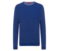 Pullover aus Baumwolle mit zweifarbiger Struktur