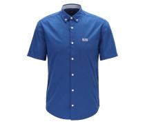 Regular-Fit Kurzarm-Hemd aus Stretch-Baumwolle