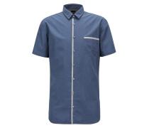 Slim-Fit Hemd aus Baumwoll-Canvas mit Pigmentdruck