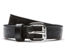 Gürtel aus beschichtetem Leder mit Logo-Prägung