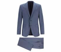 Fein gemusterter Slim-Fit Anzug aus nachverfolgbarer Merinowolle