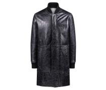 Zweiseitige Unisex-Jacke aus Leder und Lammfell